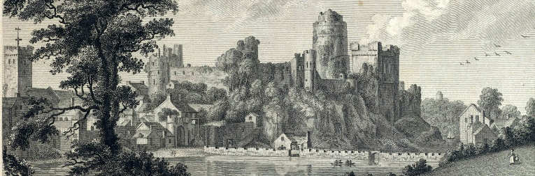 Pembroke Castle - from the north - Paul Sandby 1778